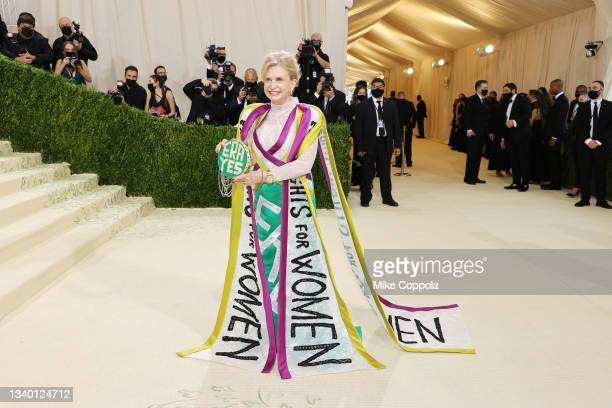 Carolyn Maloney attends The 2021 Met Gala Celebrating In America: A Lexicon Of Fashion at Metropolitan Museum of Art on September 13, 2021 in New...