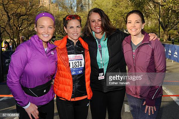 Carolyn Manno Natalie Morales Elizabeth Goodman and Erica Hill attend 13th Annual MORE/SHAPE Women's HalfMarathon at Central Park on April 17 2016 in...
