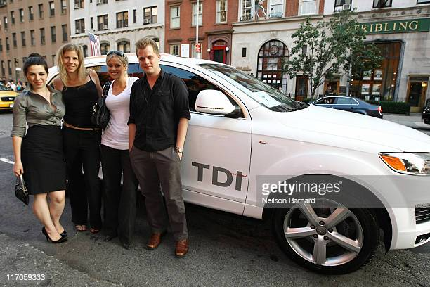 Carolyn Murphy and actress Heather Matarazzo arrive in the Audi Q7 TDI clean diesel to The Cinema Society Hugo Boss Screening of 'Inglourious...
