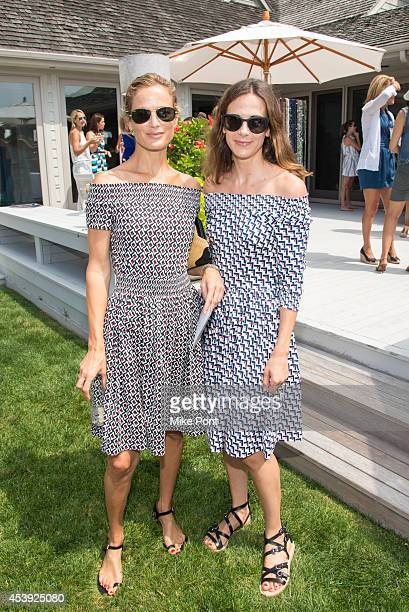 Carolyn Murphy and Alexandra Fritz attend the 2014 Healthy Child Healthy World Luncheon on August 21 2014 at a private residence in Sagaponack New...