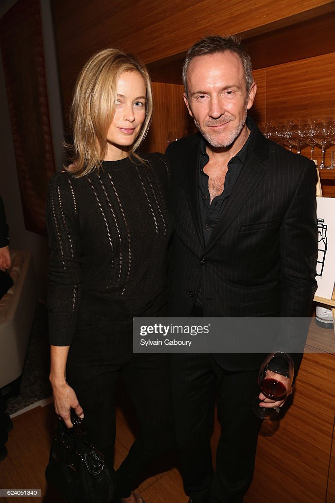 Carolyn Murphy and Trey Laird attend Edible Schoolyard NYC Annual Harvest Dinner with Chef Massimo Bottura, Hosted by Lela Rose at Private Residence on November 17, 2016 in New York City.
