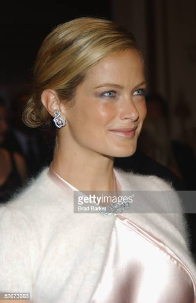 Carolyn Murphy arrives at the Breast Cancer Research Foundation's Annual Hot Pink Party at the WaldorfAstoria on April 20 2005 in New York
