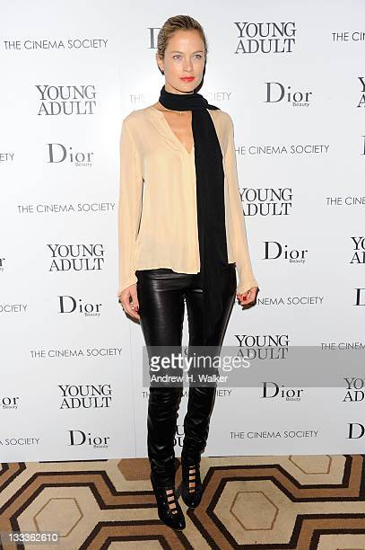 Carolyn Murphy attends the Cinema Society Dior Beauty screening of Young Adult at the Tribeca Grand Screening Room on November 18 2011 in New York...