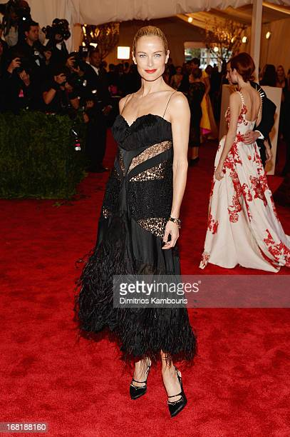 Carolyn Murphy attends the Costume Institute Gala for the 'PUNK Chaos to Couture' exhibition at the Metropolitan Museum of Art on May 6 2013 in New...