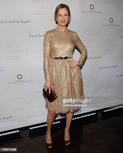 """Carolyn Murphy attends the """"Set in Style: The Jewelry of Van Cleef & Arpels"""" opening gala at Cooper-Hewitt, National Design Museum on February 16,..."""