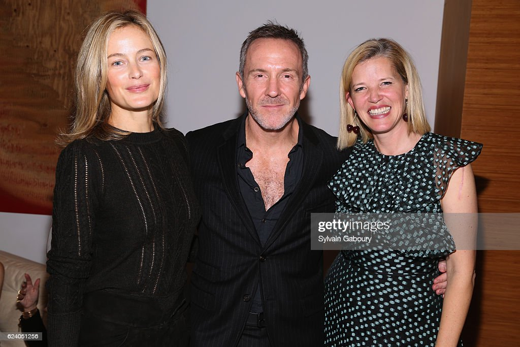 Carolyn Murphy, Trey Laird and Lela Rose attend Edible Schoolyard NYC Annual Harvest Dinner with Chef Massimo Bottura, Hosted by Lela Rose at Private Residence on November 17, 2016 in New York City.