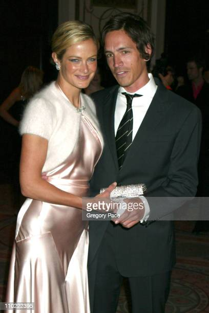 Carolyn Murphy with Brandon Boyd of Incubus during The Breast Cancer Research Foundation's Annual Red Hot Pink Party Arrivals at Waldorf Astoria in...