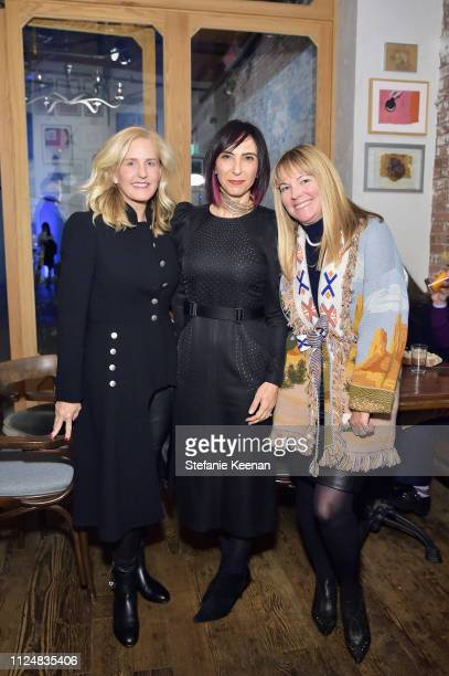 Carolyn Powers Maria Seferian and Maria Bell attend Hauser Wirth Los Angeles Opening of Annie Leibovitz and Piero Manzoni and Musical Performance by...
