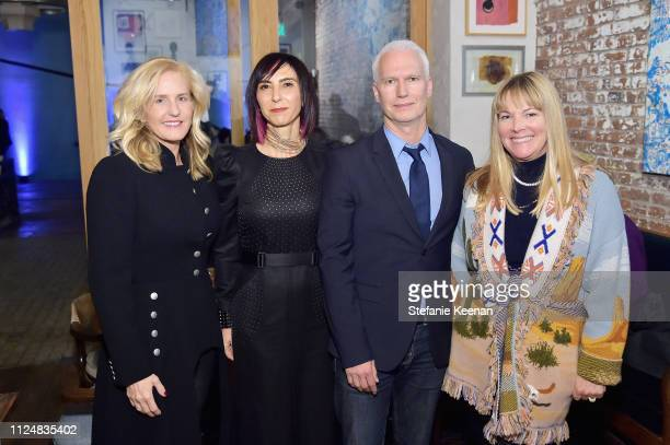 Carolyn Powers Maria Seferian Klaus Biesenbach and Maria Bell attend Hauser Wirth Los Angeles Opening of Annie Leibovitz and Piero Manzoni and...
