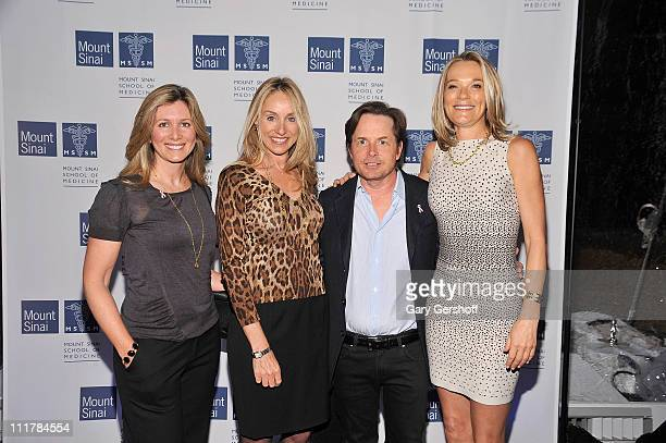 Carolyn Schenker Tracy Pollan Michael J Fox and Dr Eva AnderssonDubin attend the opening of Dubin Breast Center at the Tisch Cancer Institute at...