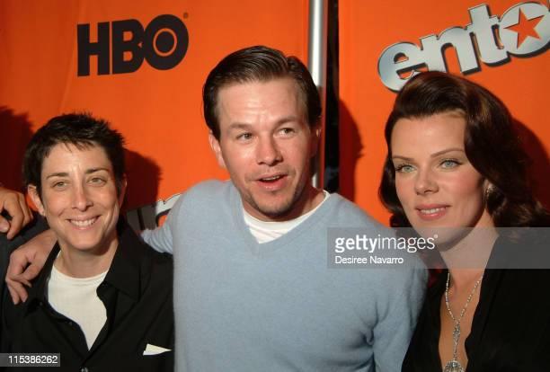 Carolyn Strauss, President of Original Programming for HBO, Mark Wahlberg, Executive Producer and Debi Mazar