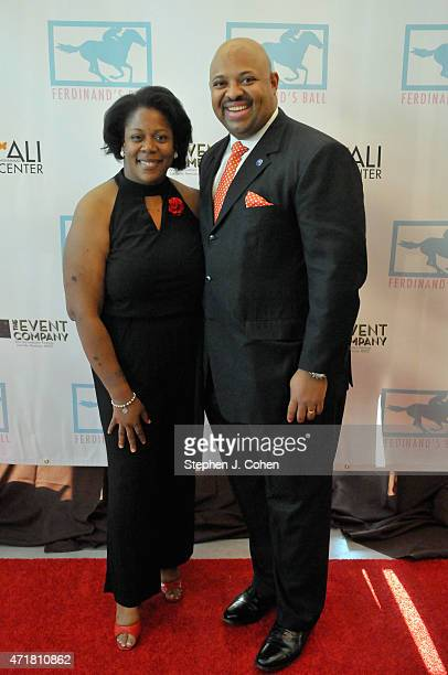 Carolyn Tandy and David Tandy attends Ferdinand's Ball at Muhammad Ali Center on April 30 2015 in Louisville Kentucky