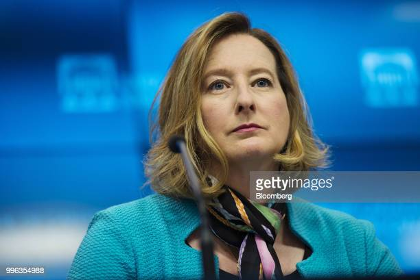 Carolyn Wilkins senior deputy governor at the Bank of Canada listens during a press conference in Ottawa Ontario Canada on Wednesday July 11 2018...