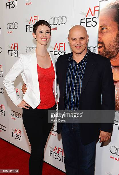 Carolyn Zeppa and Joey Rappa arrive at the gala premiere of Rust and Bone during the 2012 AFI Fest presented by Audi at Grauman's Chinese Theatre on...