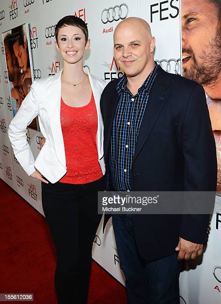 Carolyn Zeppa and Joey Rappa arrive at the premiere of Rust and Bone during the 2012 AFI Fest presented by Audi at Grauman's Chinese Theatre on...