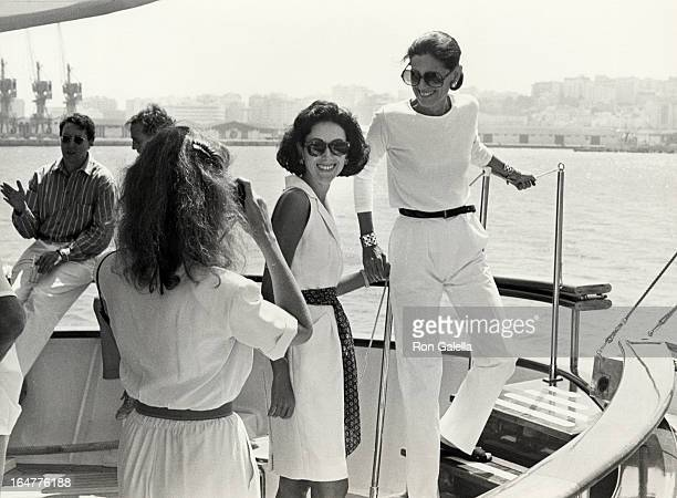 Carolyne Roehm and Annette Reed attend 70th Birthday Party for Malcolm Forbes on August 18 1989 in Tanger Morocco