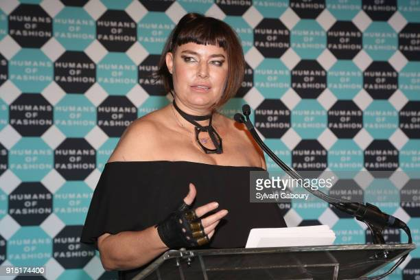 Caron Bernstein attends Humans of Fashion Foundation joins the conversation to end sexual harassment and assault in the industry at Cipriani 25...