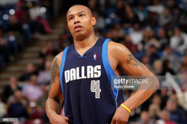 Caron Butler of the Dallas Mavericks looks on during the game against the Sacramento Kings at Arco Arena on April 10 2010 in Sacramento California...