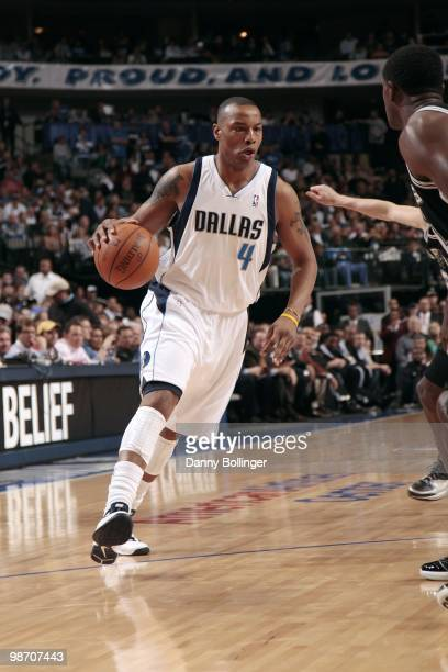 Caron Butler of the Dallas Mavericks looks to make a plaly in Game One of the Western Conference Quarterfinals against the San Antonio Spurs during...