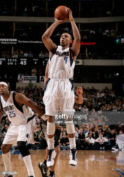 Caron Butler of the Dallas Mavericks shoots a jumper against the San Antonio Spurs in Game One of the Western Conference Quarterfinals during the...