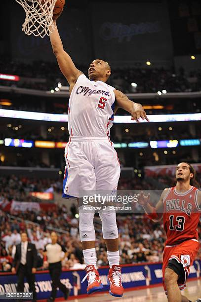 Caron Butler of the Los Angeles Clippers goes up for a basket against the Chicago Bulls at Staples Center on December 30 2011 in Los Angeles...