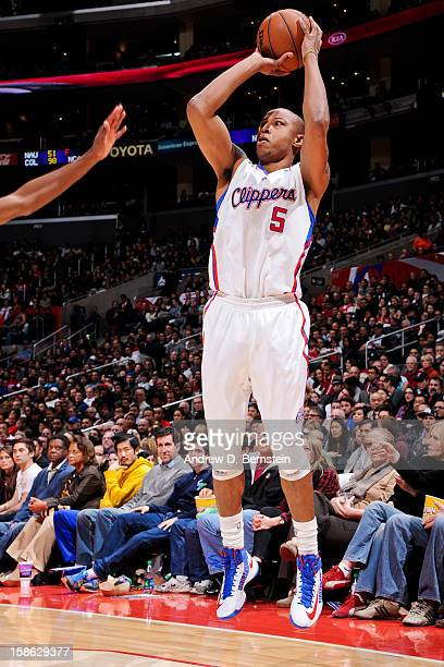 Caron Butler of the Los Angeles Clippers shoots a threepointer against the Sacramento Kings at Staples Center on December 21 2012 in Los Angeles...