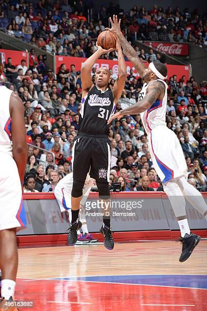 Caron Butler of the Sacramento Kings shoots the ball against the Los Angeles Clippers on October 31 2015 at STAPLES Center in Los Angeles California...