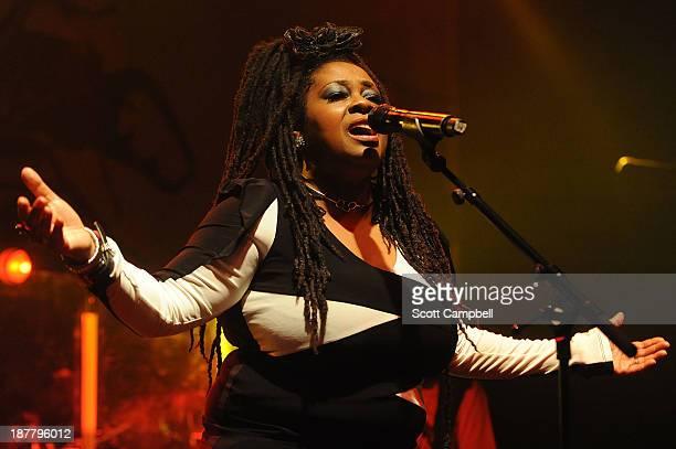 Caron Wheeler of Soul II Soul performs on stage at KOKO on November 12 2013 in London United Kingdom