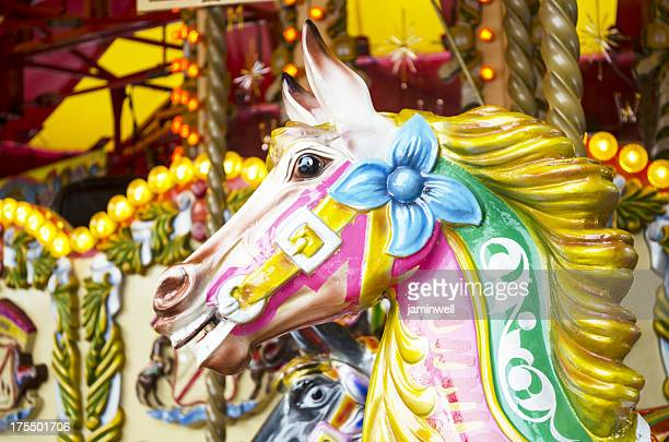 carousel colorful horse ride