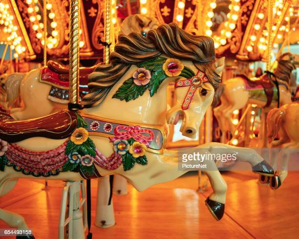 Carousel Horse on Merry-Go-Round