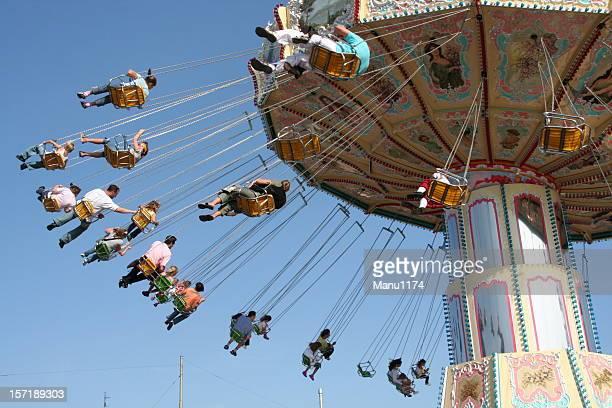 Carousel in a amusement park