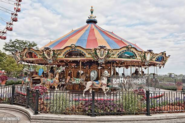 Carousel in downtown Chicago