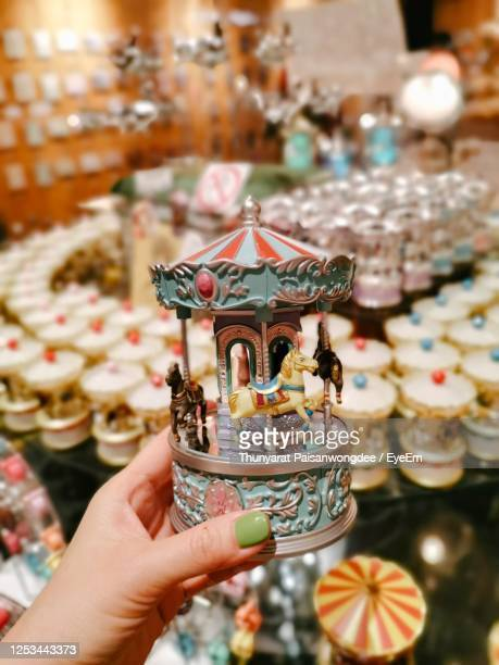 carousel music box - music box stock pictures, royalty-free photos & images