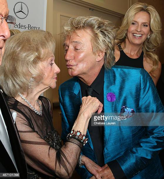 Carousel of Hope Chairman Barbara Davis and recording artist Rod Stewart attend MercedesBenz presents the Carousel of Hope Ball benefitting Barbara...
