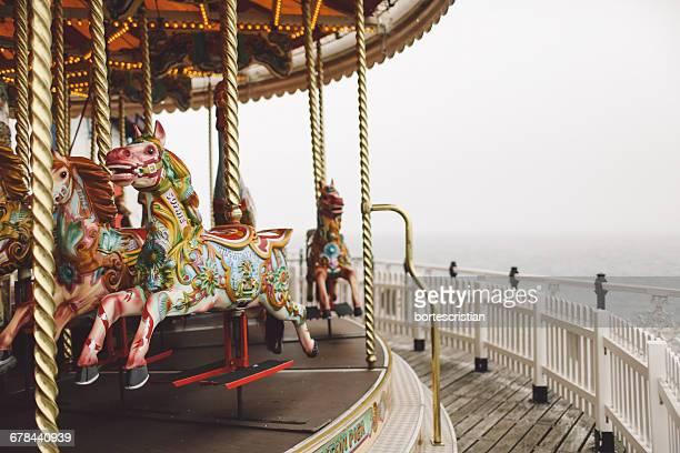 Carousel On Brighton Pier Against Sky