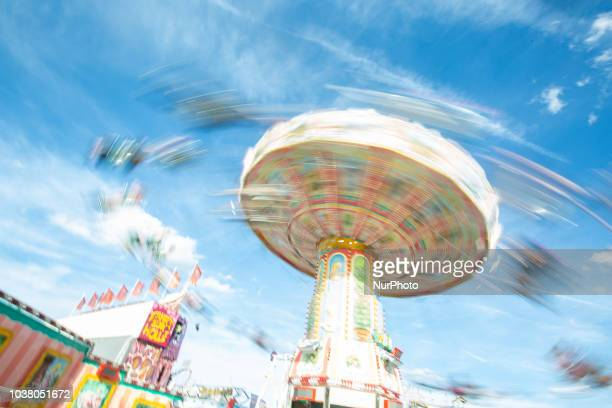 A carousel on day one of the Oktoberfest ceebrations in Munich Germany on 22 September 2018 The Oktoberfest is the world's largest largest Volksfest