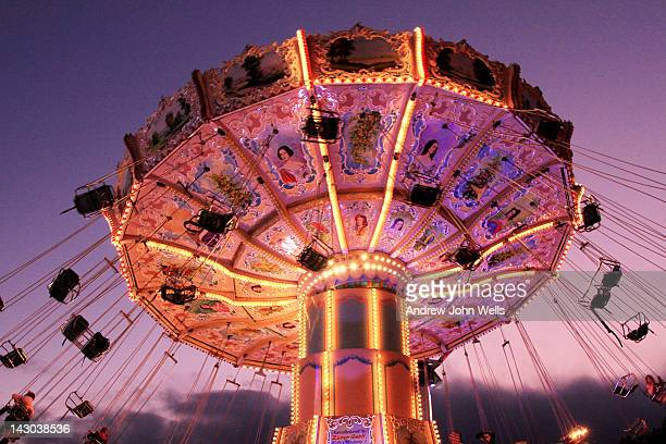 carousel - traveling carnival stock pictures, royalty-free photos & images