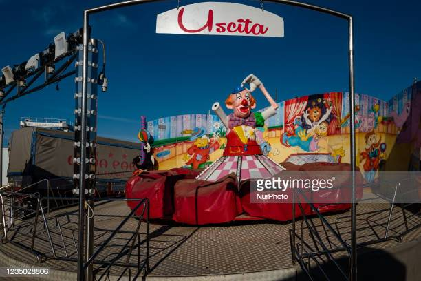 Carousel still being completed at the Luna Park at Secca dei Pali in Molfetta, on 2 September 2021. On the occasion of the patronal feast of Our Lady...