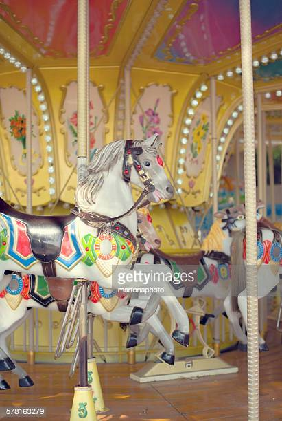 Carousel with several horses