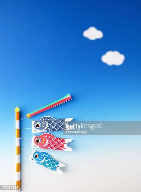carp streamers of children's day - 鯉のぼり ストックフォトと画像