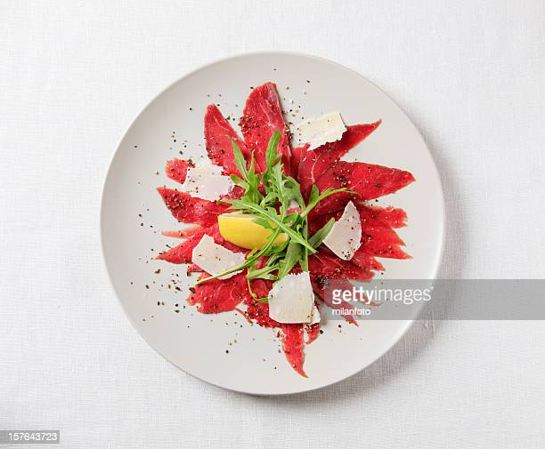 carpaccio - gourmet stock pictures, royalty-free photos & images