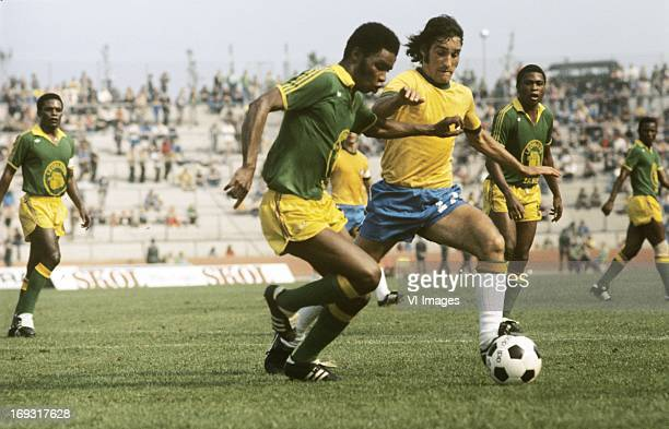 Carpegiani during the FIFA World Cup match between Zaire and Brazil on June 22 1974 at the Parkstadion in Gelsenkirchen Germany