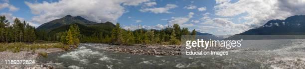 Carpenter Creek flowing into Slocan Lake New Denver Slocan Valley West Kootenay British Columbia Canada