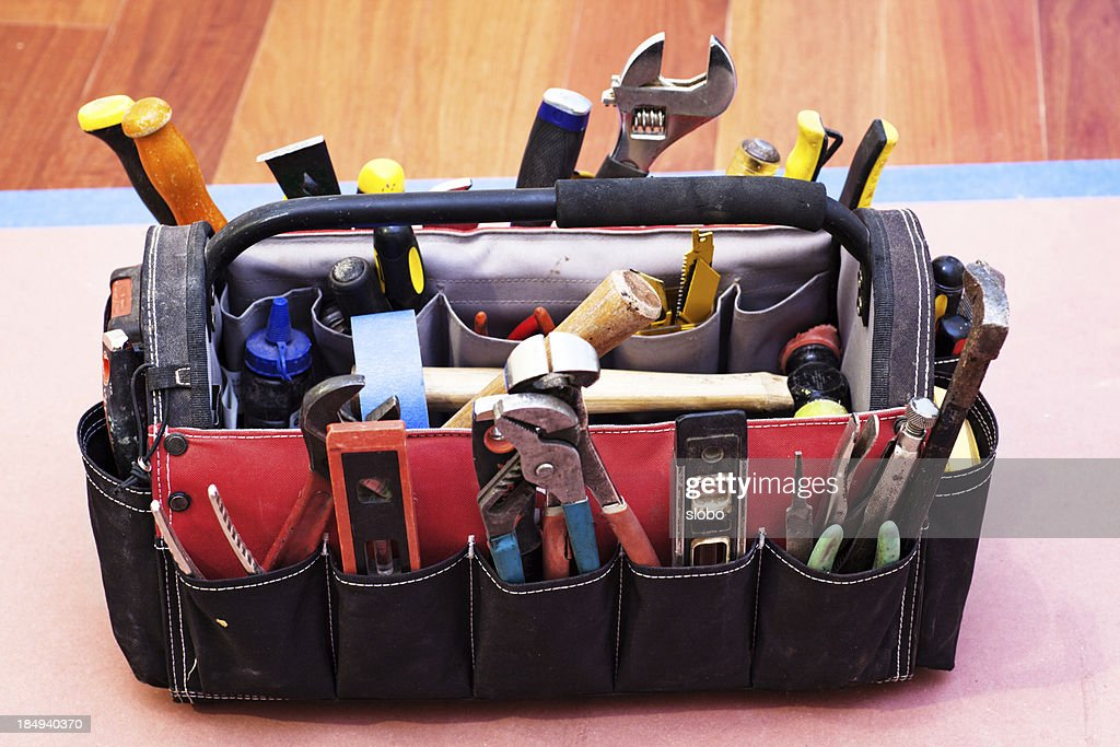 Carpenter Toolbox : Stock Photo