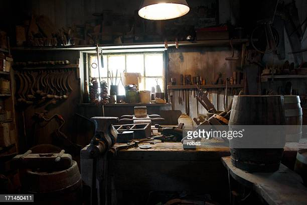 Carpenter tools on a wooden table