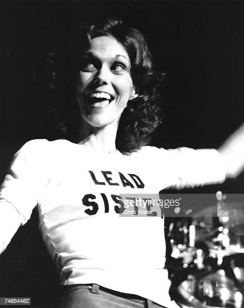 Carpenters 1976 Karen Carpenter at the Music File Photos 1970's in London United Kingdom