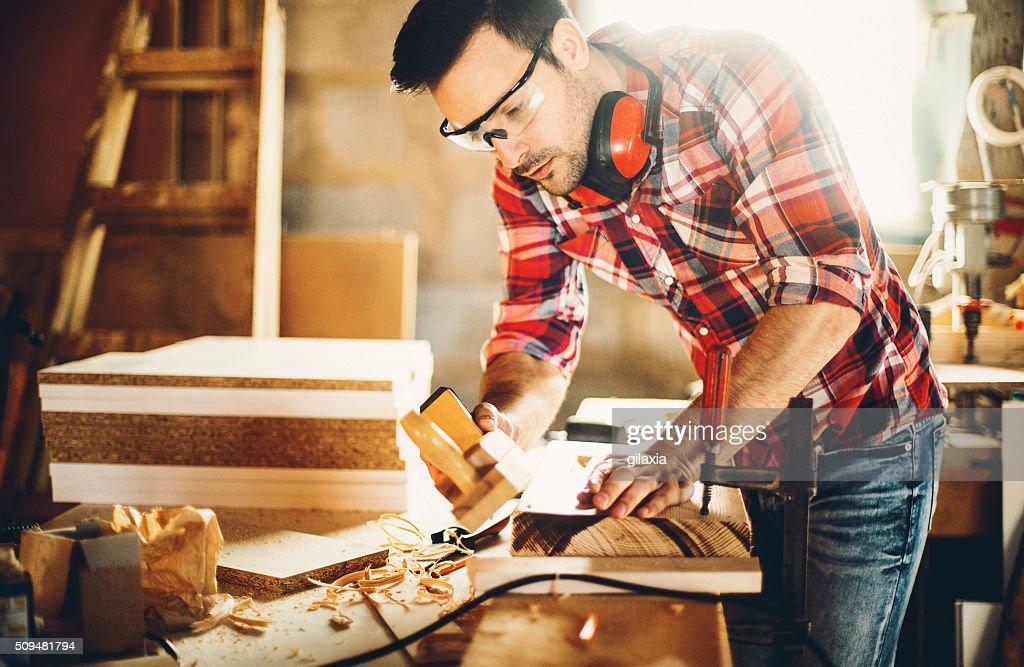 Tischlerarbeit Workshop. : Stock-Foto
