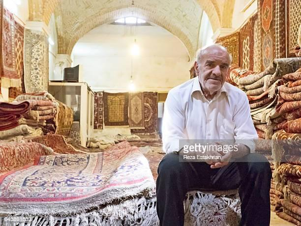 Carpet merchant, Isfahan, Iran