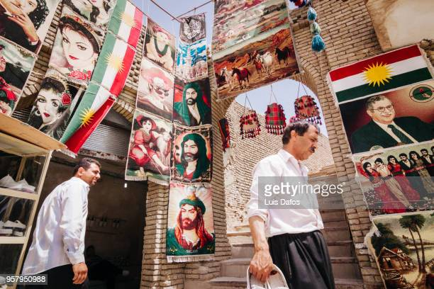 carpet shop in arbil, iraqi kurdistan - dafos stock photos and pictures