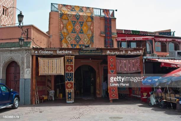 Carpet shop on Djemaa el Fna.